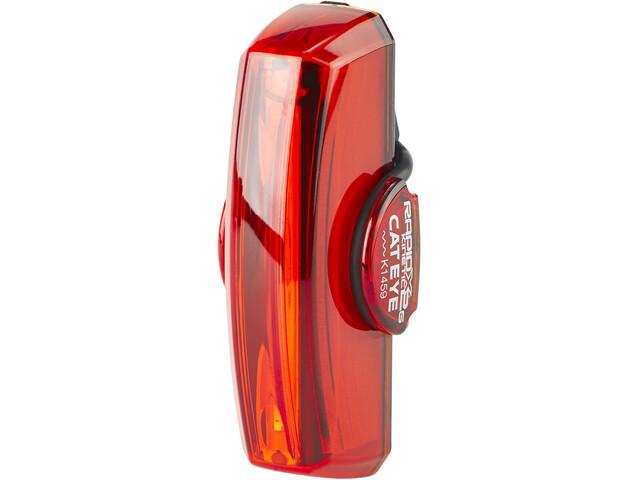 CatEye TL-LD710GK Rapid X2G Kinetic Reflektor tylny LED ze światłem stopu, black/red